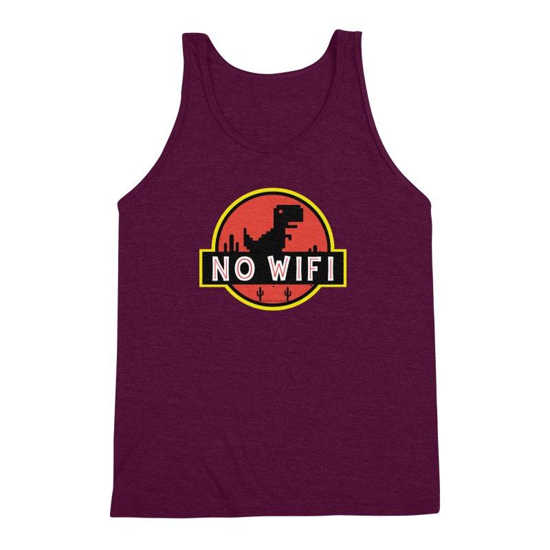 No Wifi Men's Triblend Tank by daniac's Artist Shop