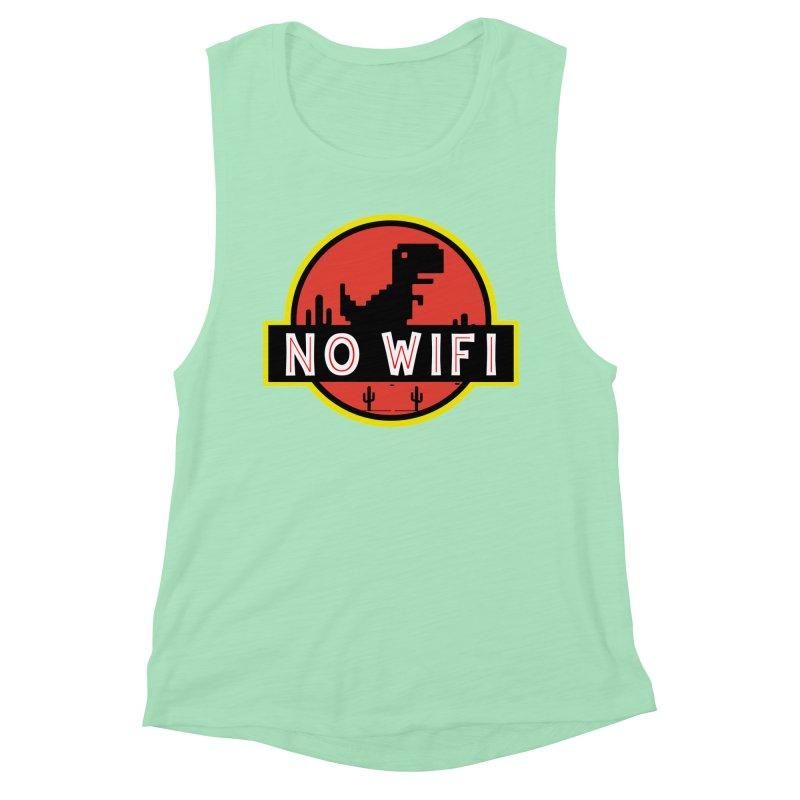 No Wifi Women's Muscle Tank by daniac's Artist Shop