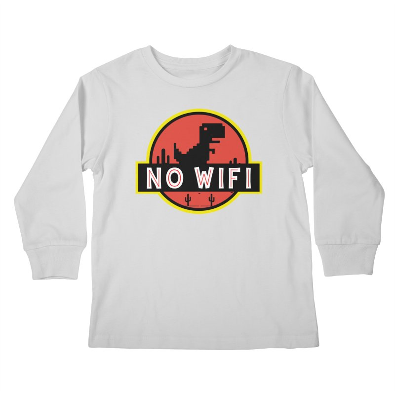 No Wifi Kids Longsleeve T-Shirt by daniac's Artist Shop