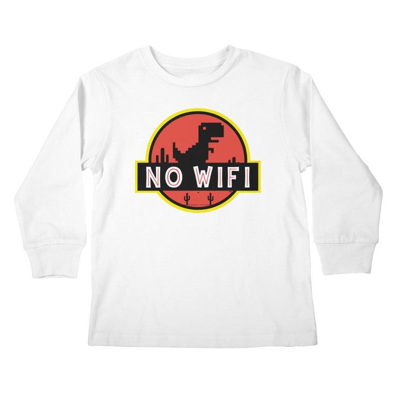 No Wifi Kids Longsleeve T-Shirt by daniac's Artist Shop