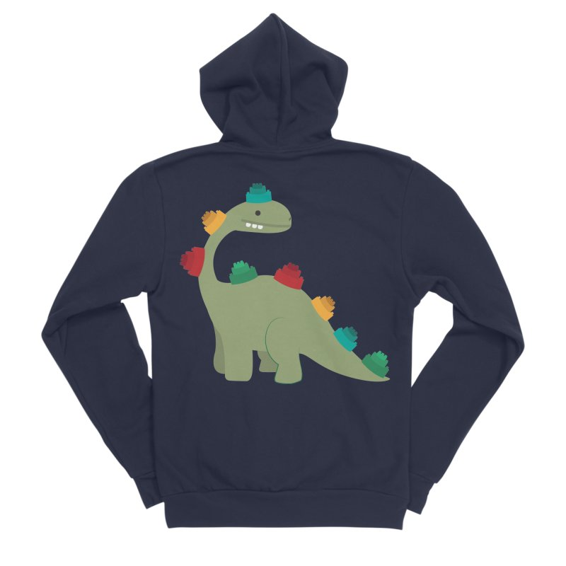 Legosaurus Women's Sponge Fleece Zip-Up Hoody by daniac's Artist Shop