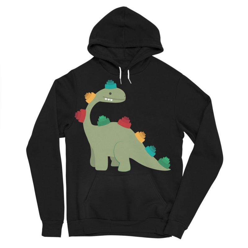 Legosaurus Men's Sponge Fleece Pullover Hoody by daniac's Artist Shop