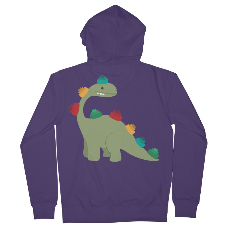 Legosaurus Women's French Terry Zip-Up Hoody by daniac's Artist Shop