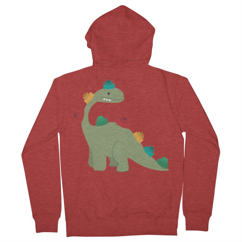 Legosaurus Men's French Terry Zip-Up Hoody by daniac's Artist Shop