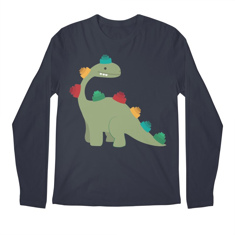 Legosaurus Men's Regular Longsleeve T-Shirt by daniac's Artist Shop