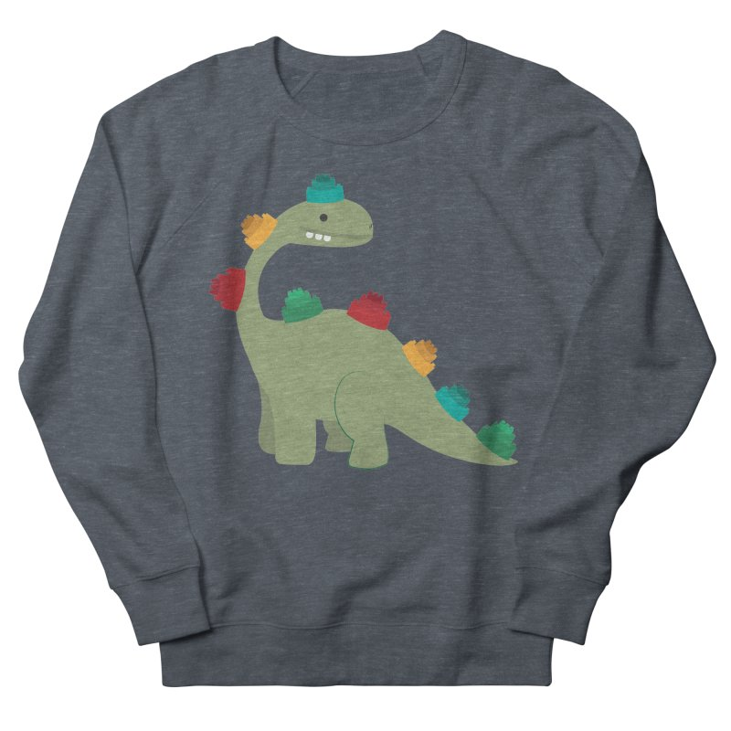 Legosaurus Men's French Terry Sweatshirt by daniac's Artist Shop