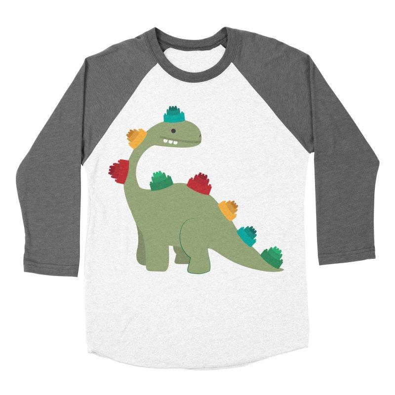 Legosaurus Women's Baseball Triblend Longsleeve T-Shirt by daniac's Artist Shop