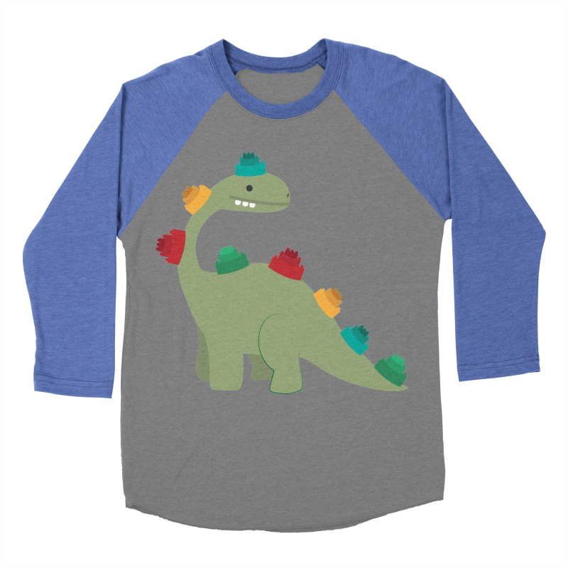 Legosaurus Men's Baseball Triblend Longsleeve T-Shirt by daniac's Artist Shop