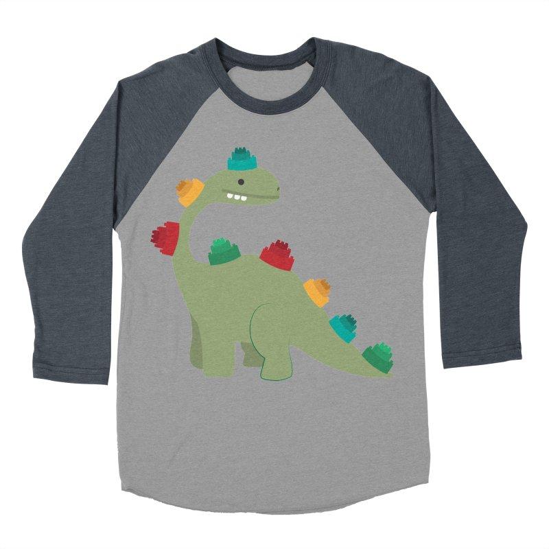 Legosaurus Men's Baseball Triblend Longsleeve T-Shirt by daniac's Artist Shop