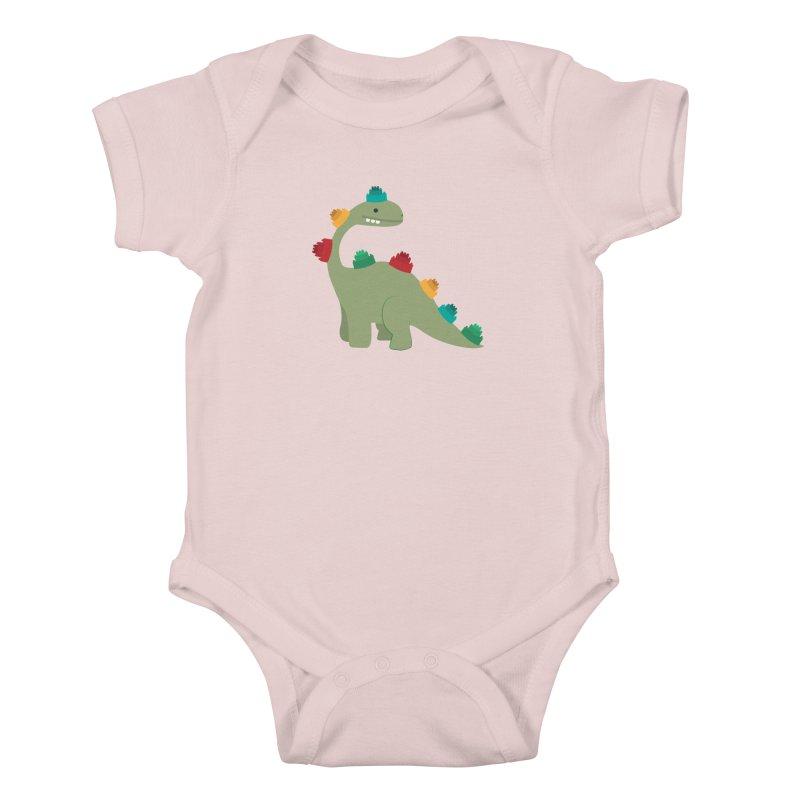 Legosaurus Kids Baby Bodysuit by daniac's Artist Shop