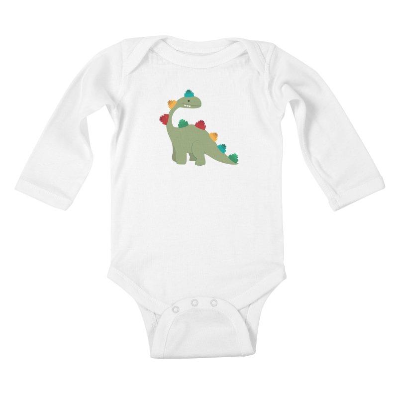 Legosaurus Kids Baby Longsleeve Bodysuit by daniac's Artist Shop