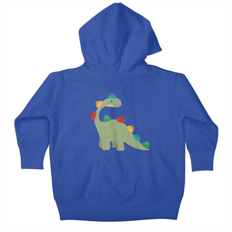 Legosaurus Kids Baby Zip-Up Hoody by daniac's Artist Shop
