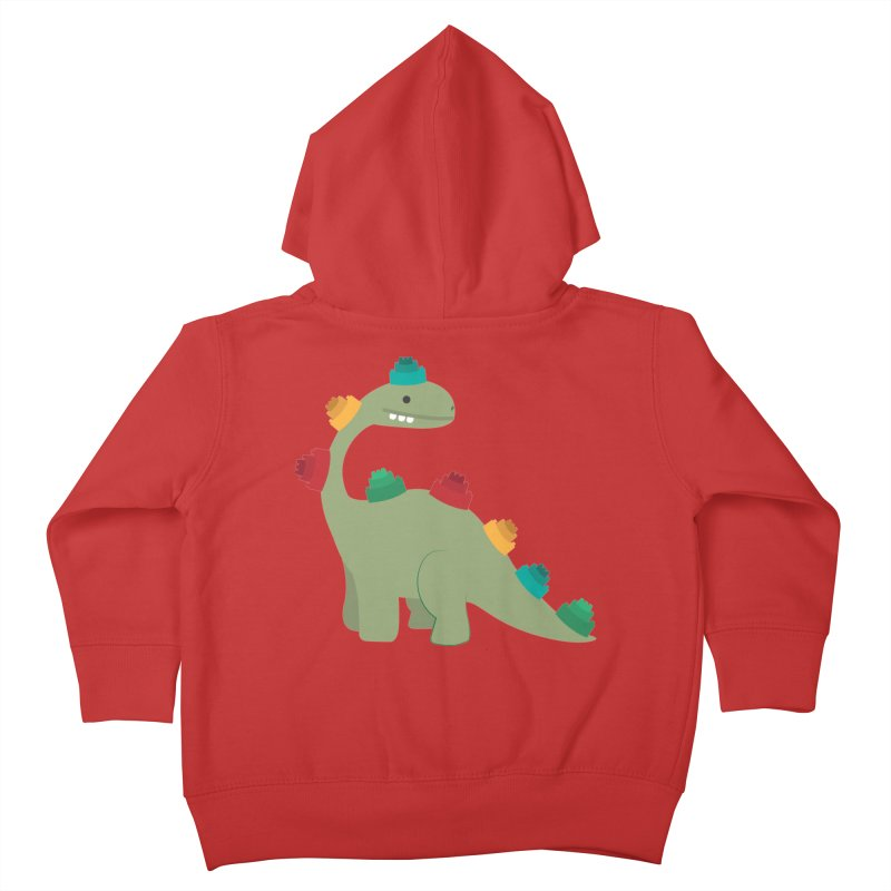 Legosaurus Kids Toddler Zip-Up Hoody by daniac's Artist Shop