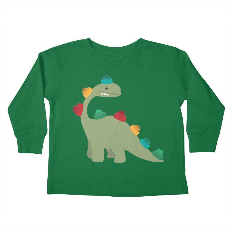 Legosaurus Kids Toddler Longsleeve T-Shirt by daniac's Artist Shop