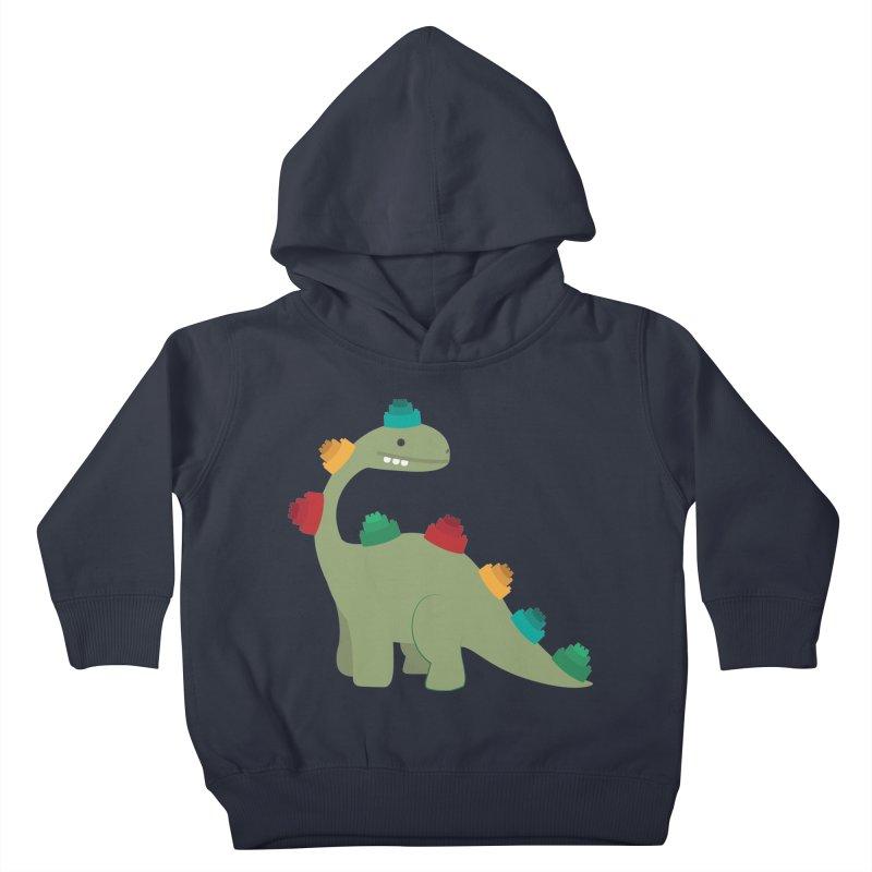 Legosaurus Kids Toddler Pullover Hoody by daniac's Artist Shop