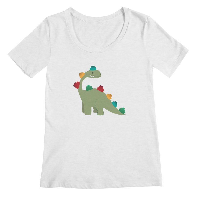 Legosaurus Women's Regular Scoop Neck by daniac's Artist Shop