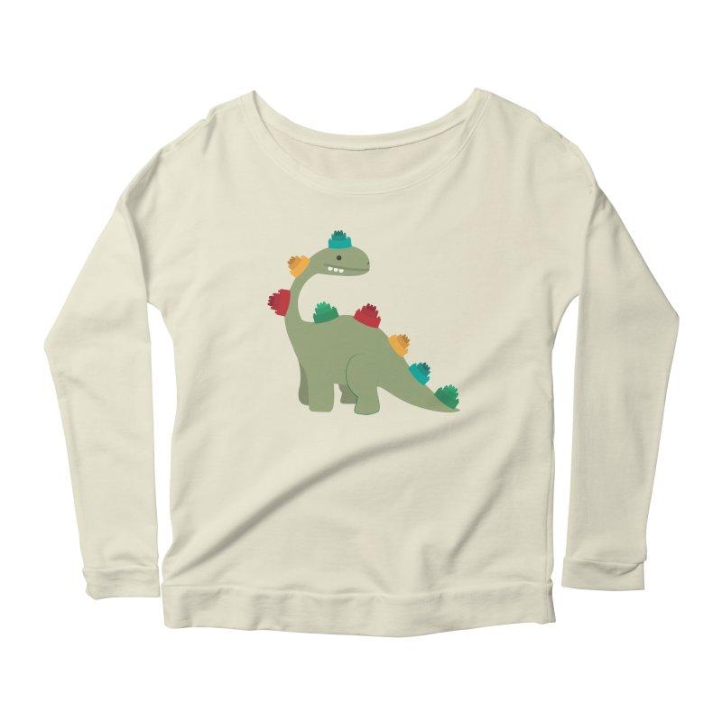 Legosaurus Women's Scoop Neck Longsleeve T-Shirt by daniac's Artist Shop