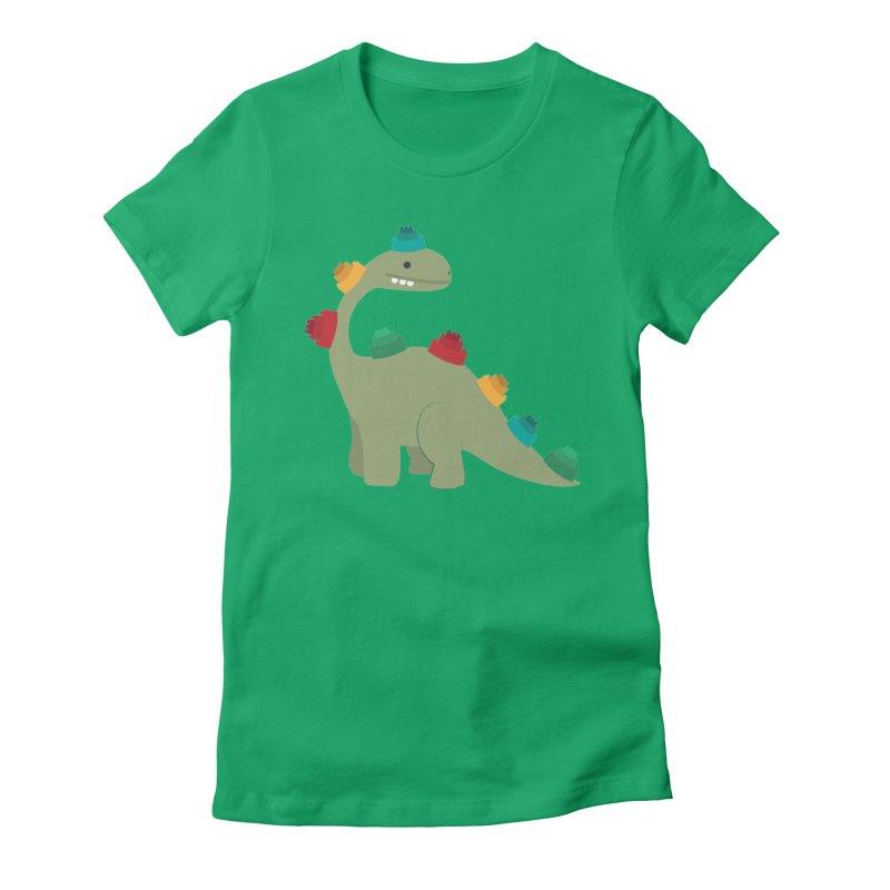 Legosaurus Women's Fitted T-Shirt by daniac's Artist Shop