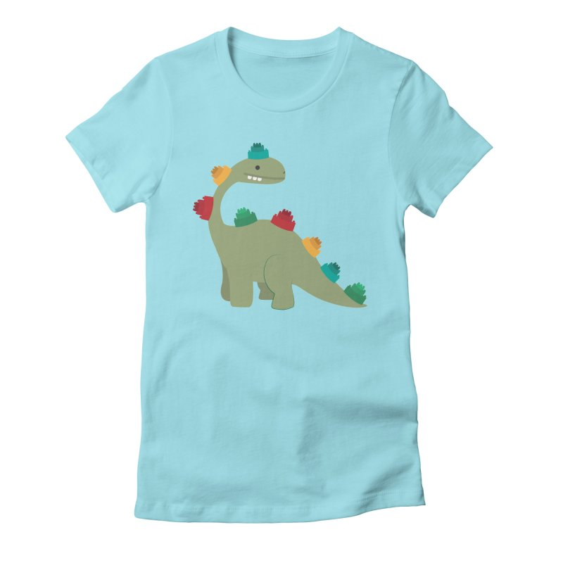 Legosaurus Women's Fitted T-Shirt by daniac's Artist Shop