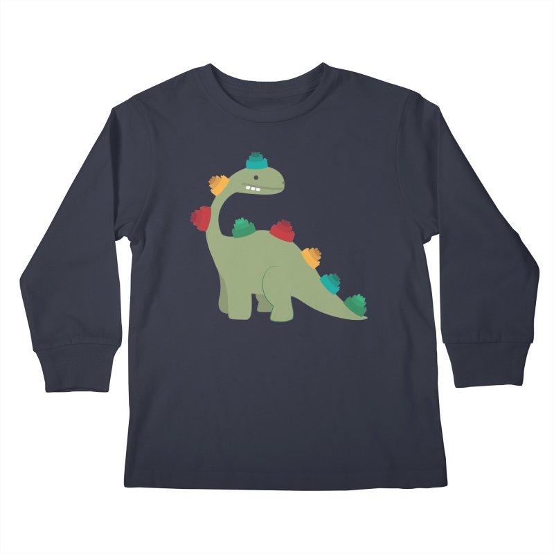 Legosaurus Kids Longsleeve T-Shirt by daniac's Artist Shop