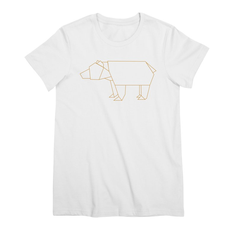 Origami Bear Women's Premium T-Shirt by daniac's Artist Shop