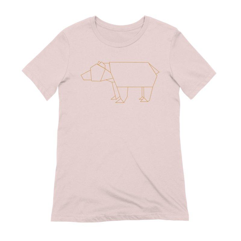 Origami Bear Women's Extra Soft T-Shirt by daniac's Artist Shop