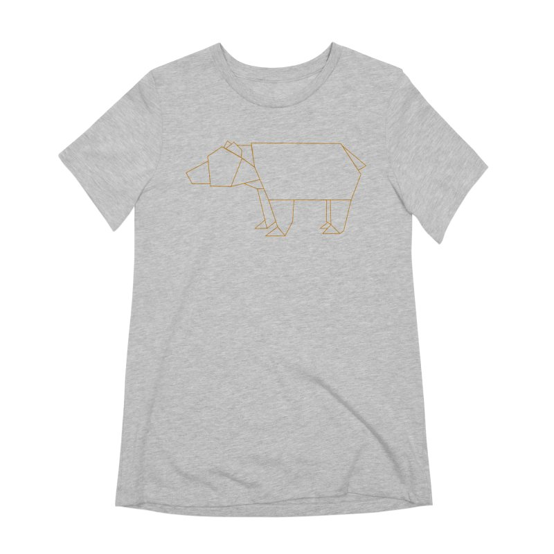 Origami Bear Women's Extra Soft T-Shirt by daniac's Artist Shop