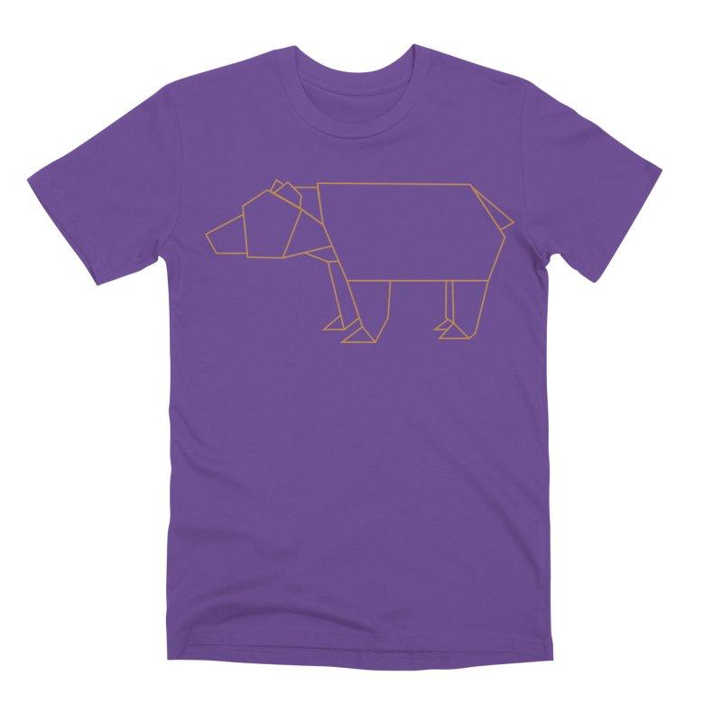 Origami Bear Men's Premium T-Shirt by daniac's Artist Shop