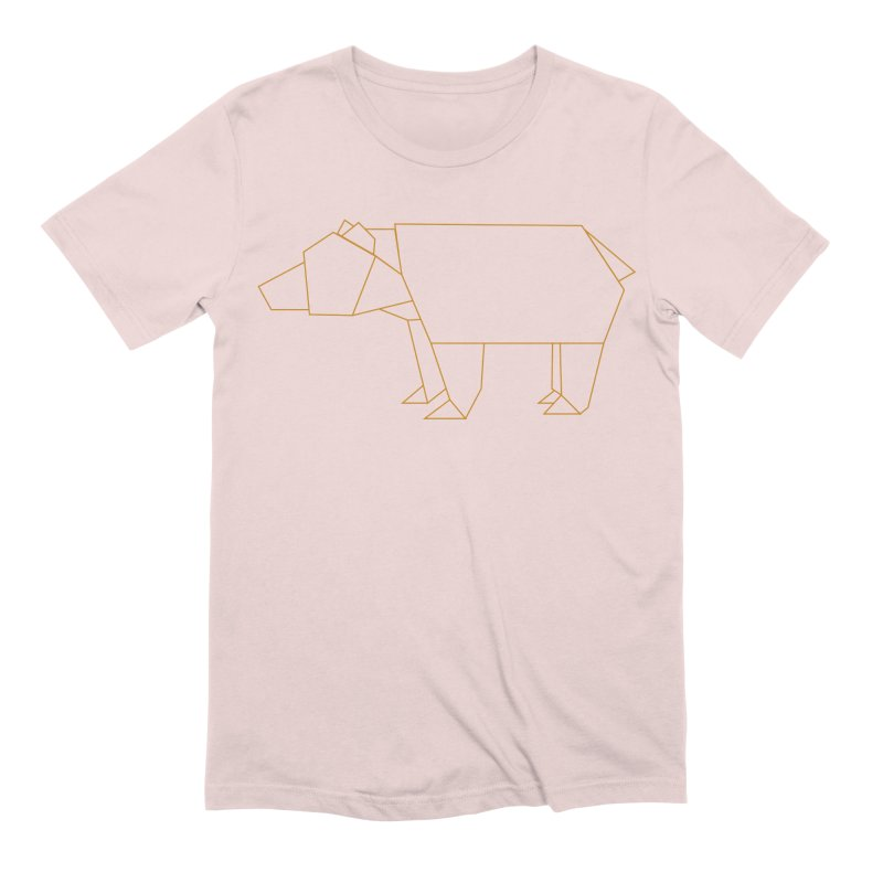 Origami Bear Men's Extra Soft T-Shirt by daniac's Artist Shop