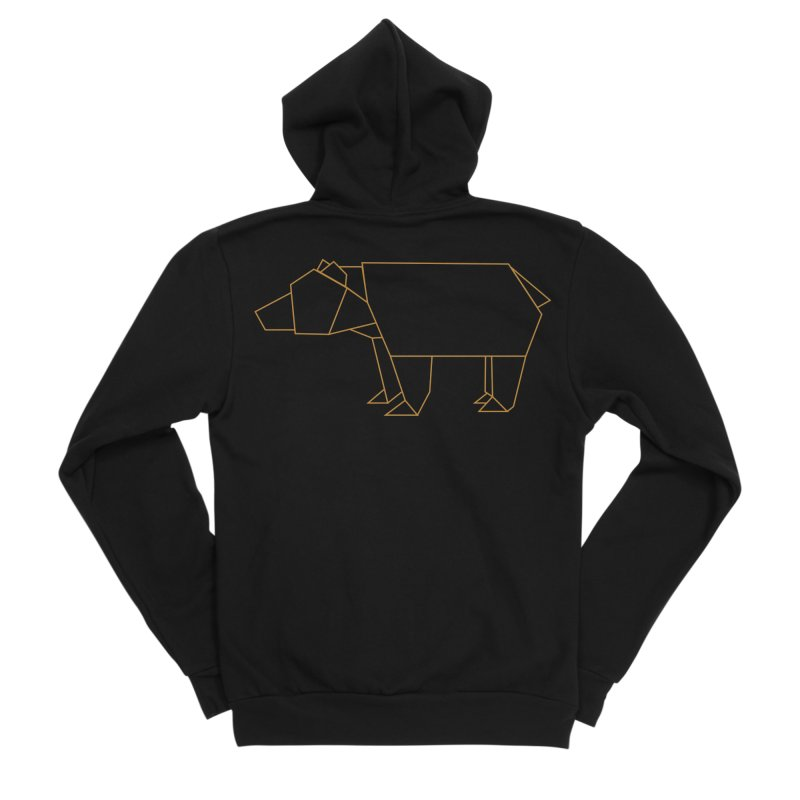 Origami Bear Women's Sponge Fleece Zip-Up Hoody by daniac's Artist Shop