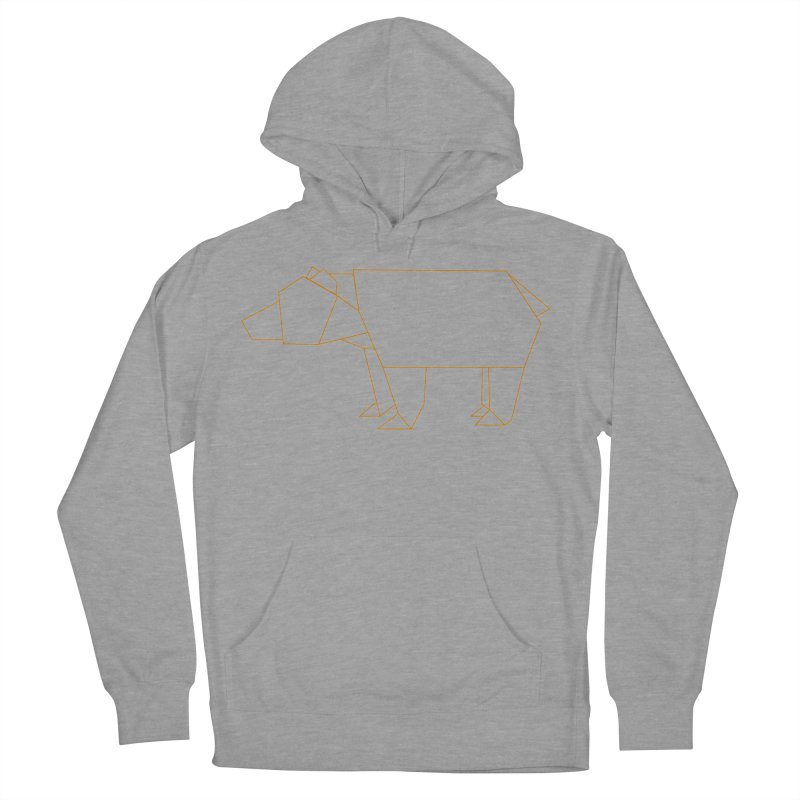 Origami Bear Women's French Terry Pullover Hoody by daniac's Artist Shop