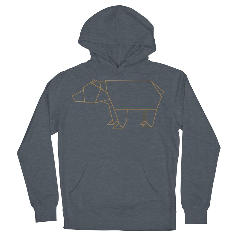 Origami Bear Men's French Terry Pullover Hoody by daniac's Artist Shop