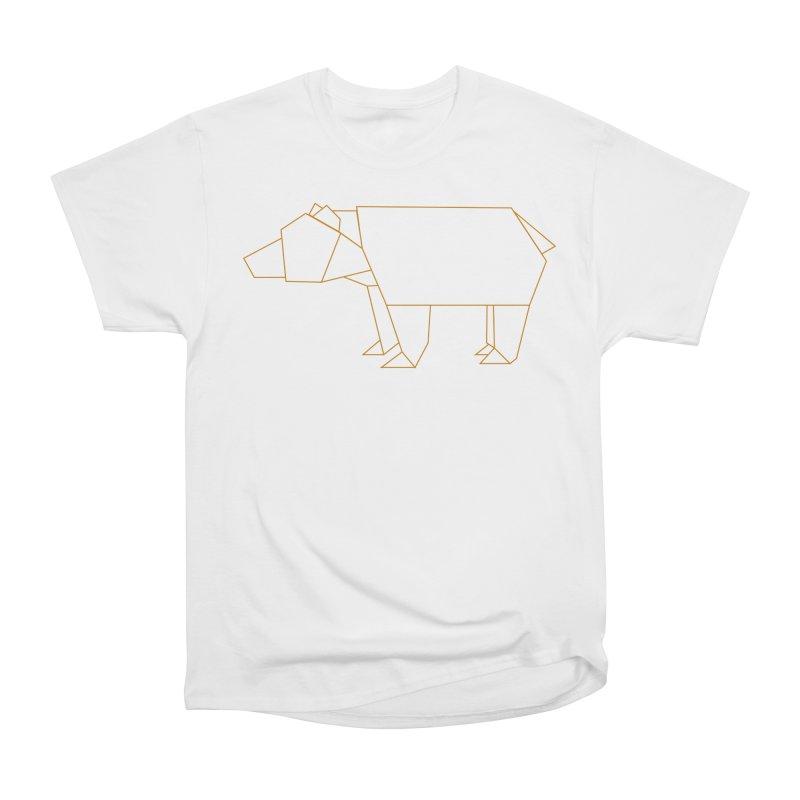 Origami Bear Women's Heavyweight Unisex T-Shirt by daniac's Artist Shop