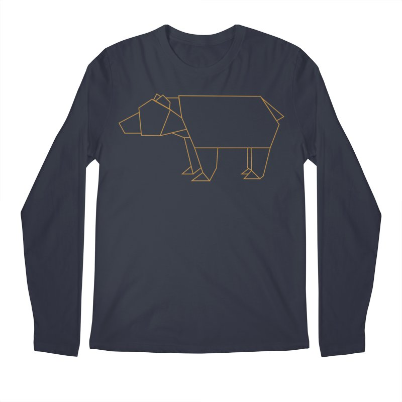 Origami Bear Men's Regular Longsleeve T-Shirt by daniac's Artist Shop