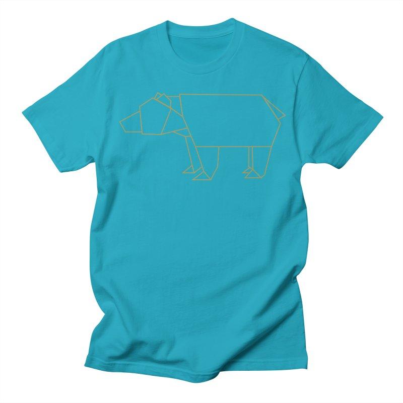 Origami Bear Men's Regular T-Shirt by daniac's Artist Shop
