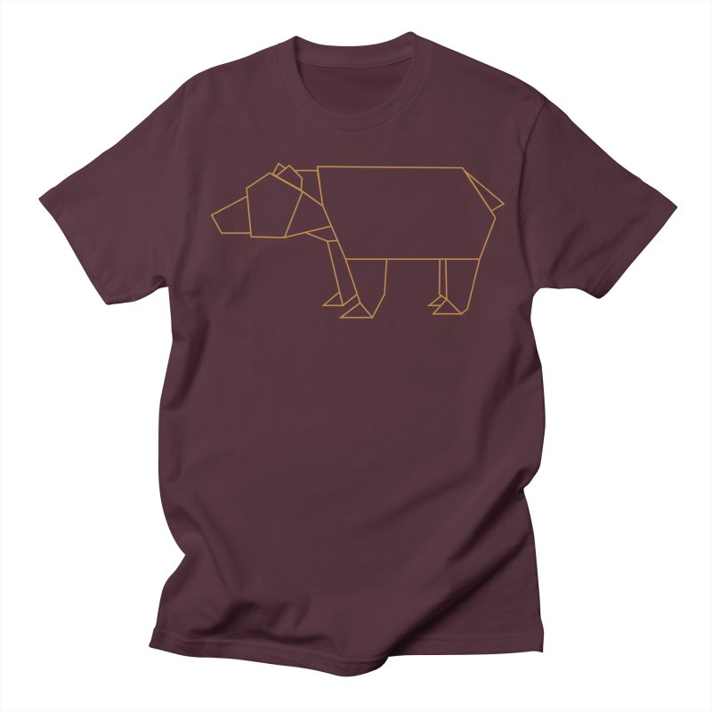 Origami Bear Women's Regular Unisex T-Shirt by daniac's Artist Shop