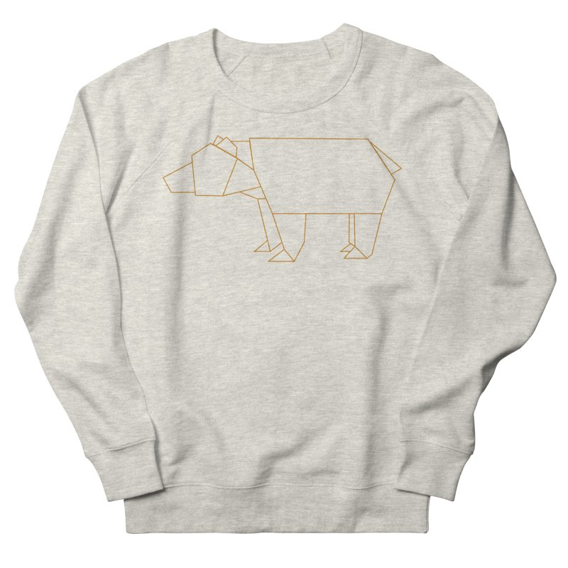 Origami Bear Women's French Terry Sweatshirt by daniac's Artist Shop