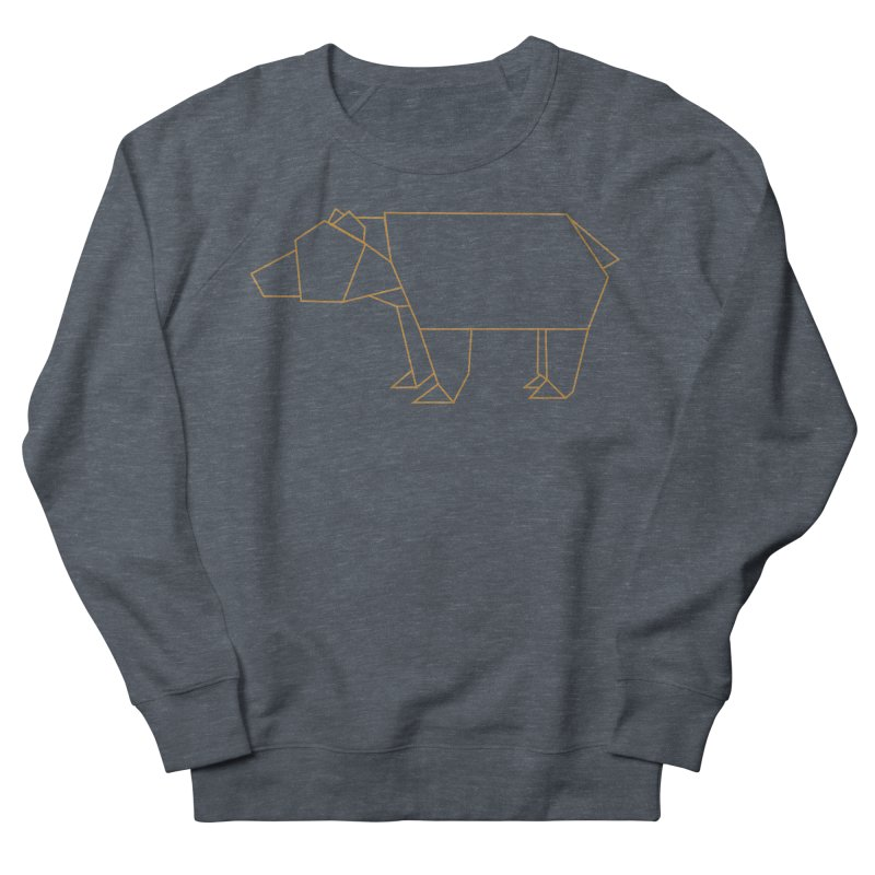 Origami Bear Men's French Terry Sweatshirt by daniac's Artist Shop
