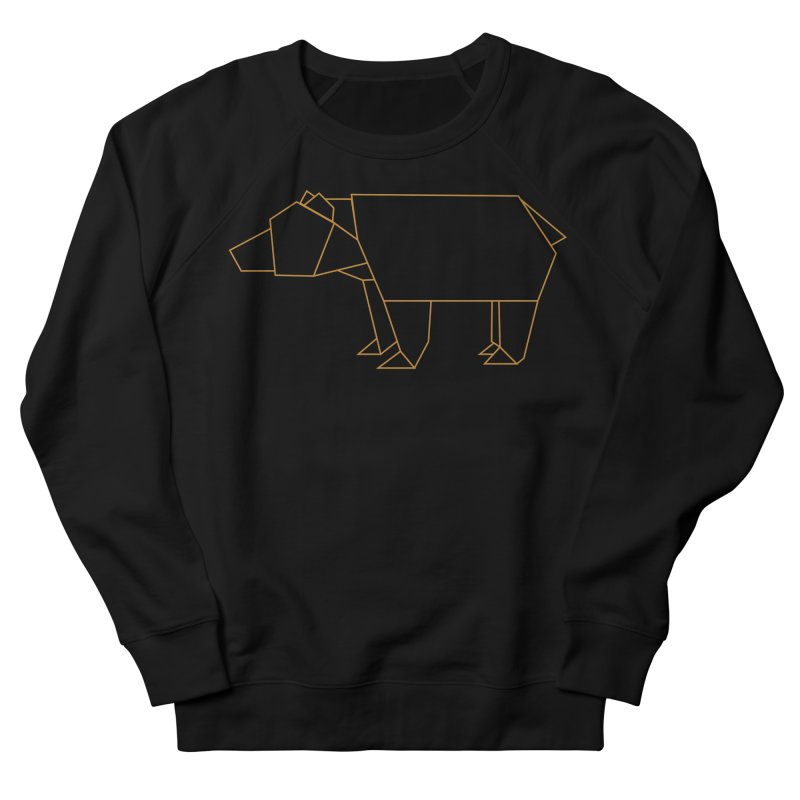 Origami Bear Men's French Terry Sweatshirt by daniac's Artist Shop