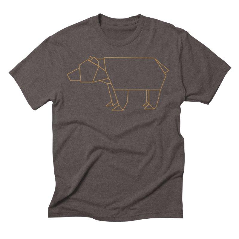 Origami Bear Men's Triblend T-Shirt by daniac's Artist Shop