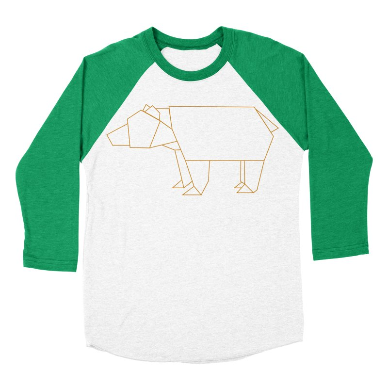 Origami Bear Women's Baseball Triblend Longsleeve T-Shirt by daniac's Artist Shop