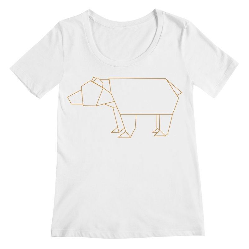 Origami Bear Women's Regular Scoop Neck by daniac's Artist Shop