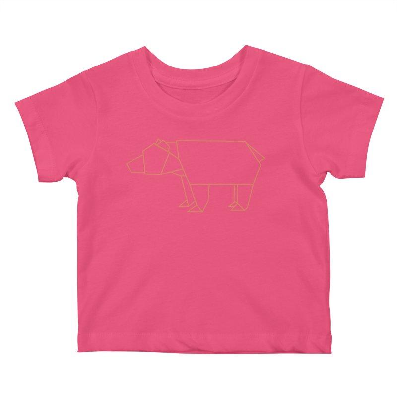 Origami Bear Kids Baby T-Shirt by daniac's Artist Shop