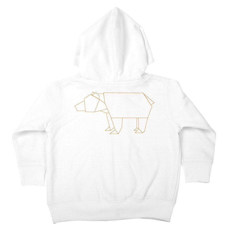 Origami Bear Kids Toddler Zip-Up Hoody by daniac's Artist Shop