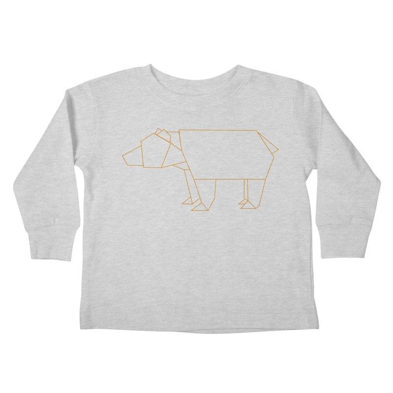 Origami Bear Kids Toddler Longsleeve T-Shirt by daniac's Artist Shop