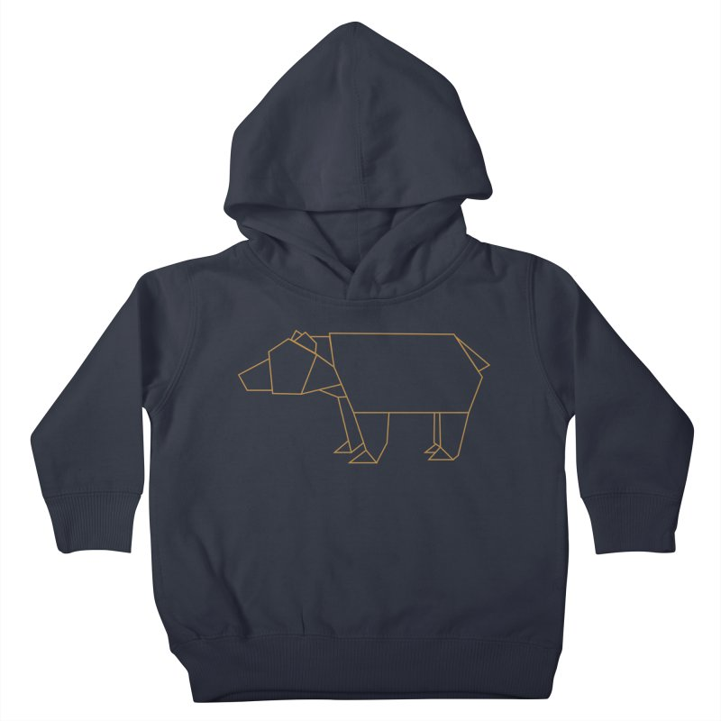 Origami Bear Kids Toddler Pullover Hoody by daniac's Artist Shop