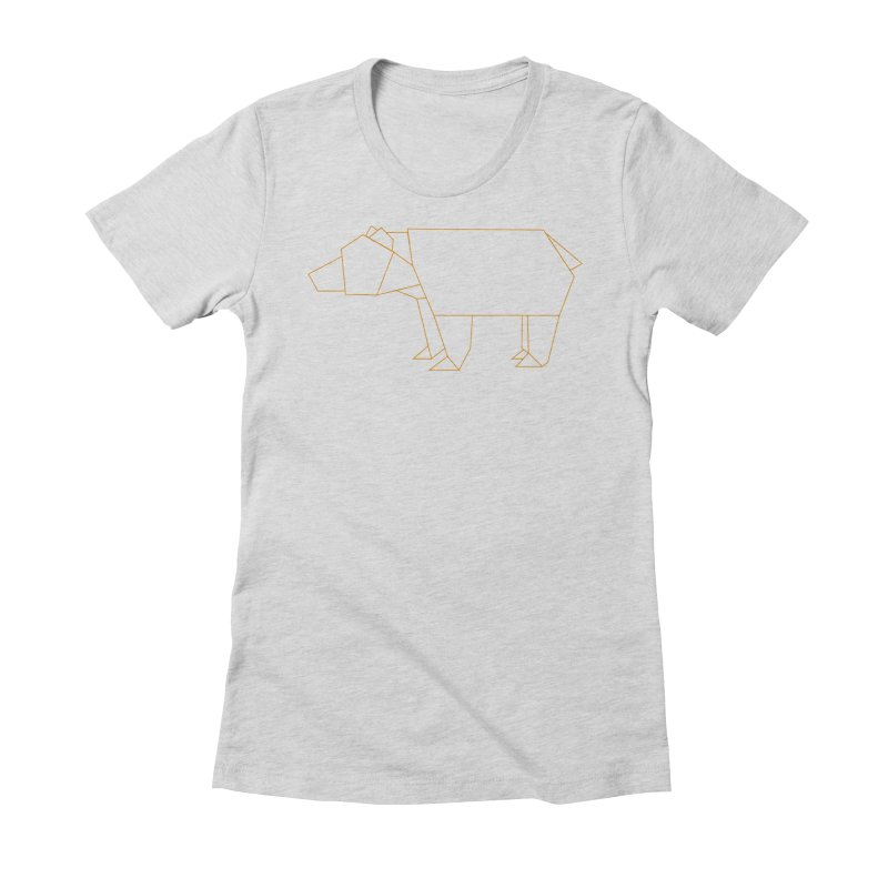 Origami Bear Women's Fitted T-Shirt by daniac's Artist Shop