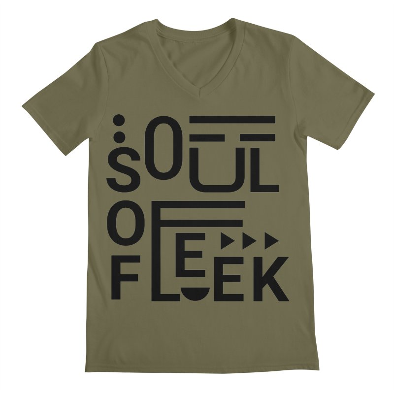 Soul of fleek Men's Regular V-Neck by daniac's Artist Shop