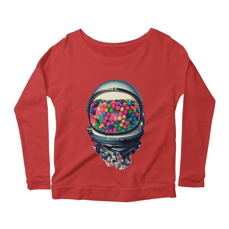 AstroGum Women's Scoop Neck Longsleeve T-Shirt by daniac's Artist Shop