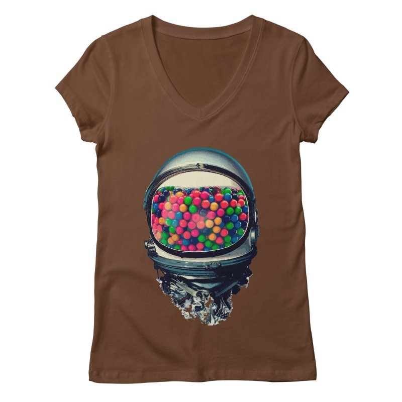 AstroGum Women's Regular V-Neck by daniac's Artist Shop